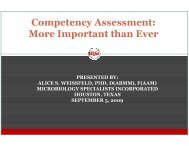Competency Assessment: More Important than Ever by ... - SWACM