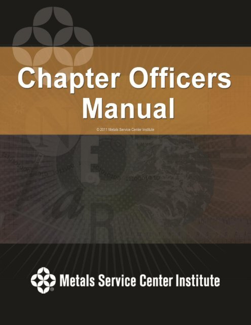 2011 Chapter Officer S Manual PDF Metals Service Center