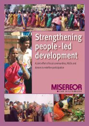 Strengthening people-led development - a joint effort of ... - Misereor