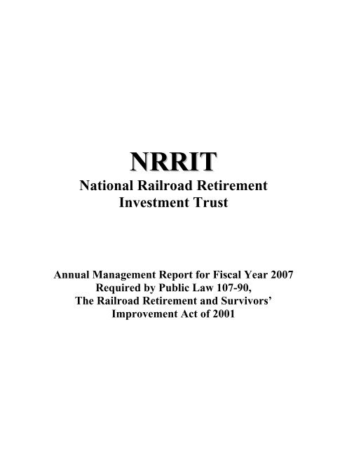 FY 2007 report - U.S. Railroad Retirement Board