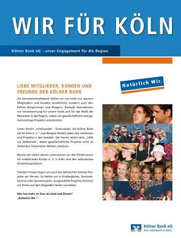 Wir für Köln - Kölner Bank eG