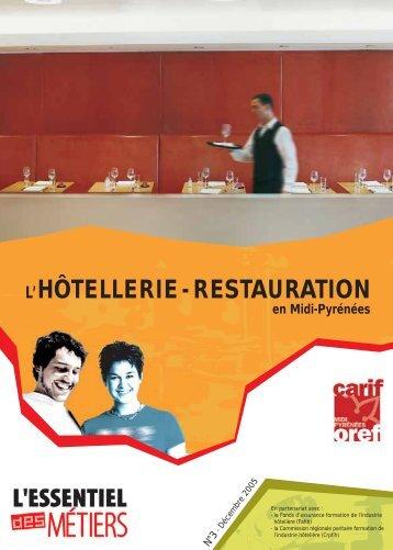 L'HÔTELLERIE - RESTAURATION - Carif Oref Midi-Pyrénée