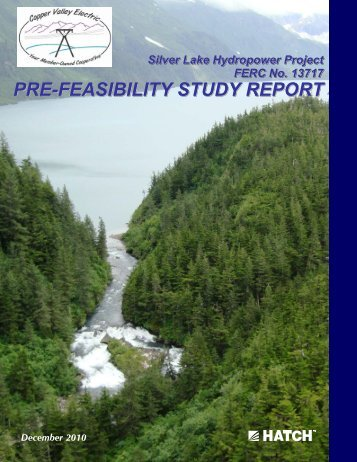 Silver Lake Pre-Feasibility Report - Copper Valley Electric Association