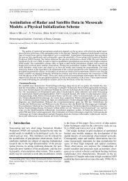 Assimilation of Radar and Satellite Data in Mesoscale Models: a ...