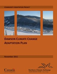 Dawson Climate Change Adaptation Plan, Revised ... - Yukon College