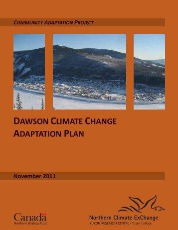 Dawson Climate Change Adaptation Plan, Revised ... - Yukon College