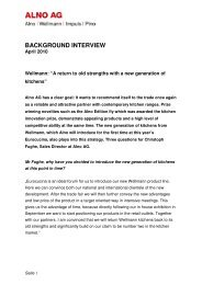 Background interview 3 questions for Christoph Fughe April ... - ALNO