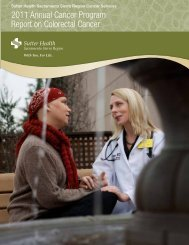 2011 Annual Cancer Program Report on Colorectal Cancer