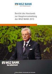 Rede zur HV 2013 - WGZ Bank