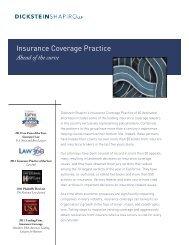 Dickstein Shapiro Insurance Coverage Practice Flyer
