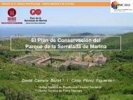 El Plan de Conservación del Parque de la Serralada de Marina