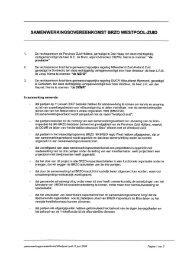 samenwerkingsovereenkomst van Westpool-zuid