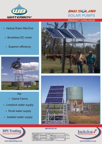 SOLAR PUMPS - Incledon
