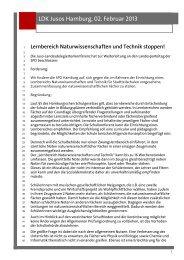 Lernbereich Naturwissenschaften und Technik ... - Jusos Hamburg