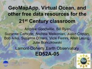 GeoMapApp, Virtual Ocean, and other free data resources for the ...