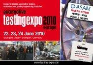 22, 23, 24 June 2010 - Automotive Testing Expo