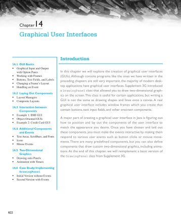 Chapter 14 (old): Graphical User Interfaces - Building Java Programs