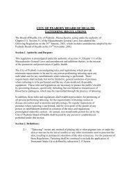Tatooing Regulations - Peabody