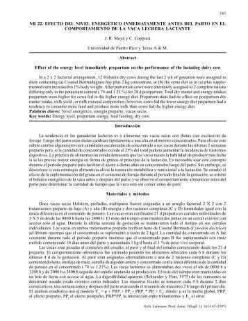 NR 22 Moyá, J. R. y C. E. Coppock. Efecto del nivel energético ...