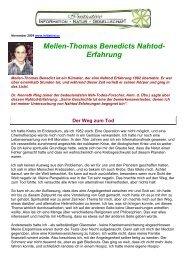 Mellen-Thomas Benedicts Nahtod- Erfahrung - Wiesenfelder.de