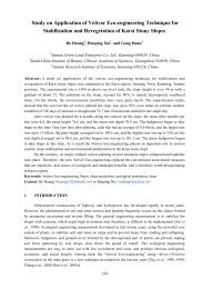 Study on Application of Vetiver Eco-engineering Technique for ...