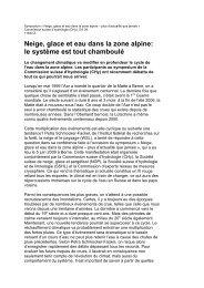 Rapport sur le symposium - CHy - SCNATweb