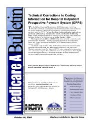 Technical Corrections to Coding Information for Hospital Outpatient ...
