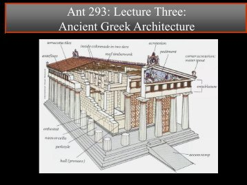 Lecture 2: Ancient Greek Architecture