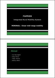integrated Rural Mobility System MINIRAIL ... - Interdesign 2005