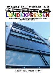 39. årgang · Nr. 7 · September · 2011 - lundens.net