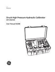 Druck High Pressure Hydraulic Calibrator - Insatech