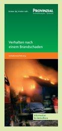 Verhalten nach einem Brandschaden - Sicherheitserziehung NRW