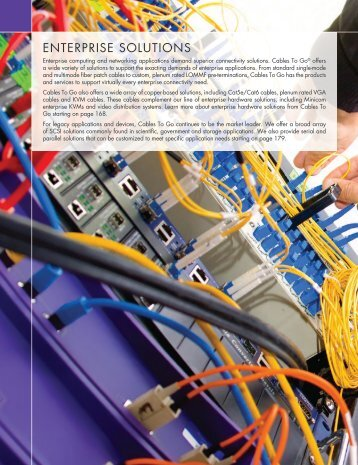 ENTERPRISE SOLUTIONS - Cables To Go