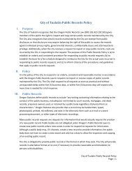 Public Records Request Policy - City of Tualatin