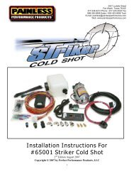 Installation Instructions For #65001 Striker Cold Shot - Painless Wiring