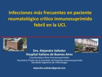 Infecciones más frecuentes en paciente reumatológico crítico ...