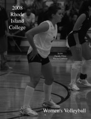 The 2008 Rhode Island College Women's Volleyball Team