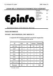 Epinfo - Epidemiológiai Információs Hetilap - 2005. 12 évf. 18 ... - EPA