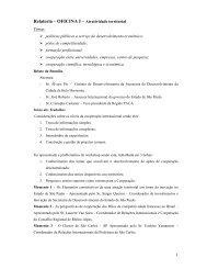 Relatoria – OFICINA I – Atratividade territorial - Cités Unies France