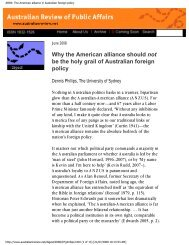 The American alliance in Australian foreign policy - United States ...