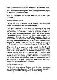 the speech of Mr. Arnaud Barthélémy, Consul General - Consulat ...