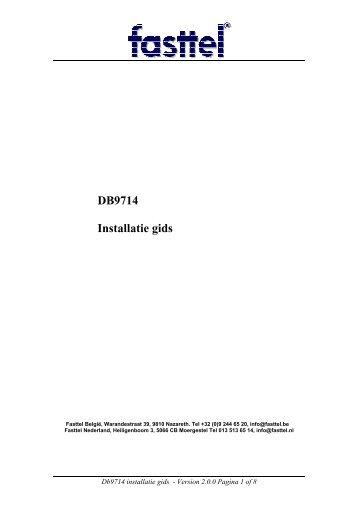 DB9714 Installatie gids - Fasttel