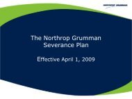 The Northrop Grumman Severance Plan - Benefits Online