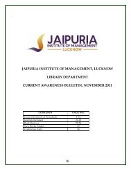 Current Awareness Bulletin November 2011 - Jaipuria Institute of ...