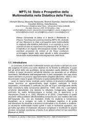 Stato e Prospettive della Multimedialità nella ... - Didamatica 2010