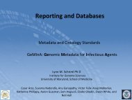 Reporting and Databases