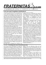FRATERNITAS 01.07.2006 Lasst uns zum Evangelium ... - OFM