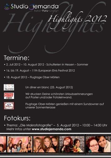 Highlights 2012 - Studio Jemanda