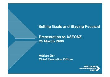 Setting Goals and Staying Focused Presentation ... - Women In Super