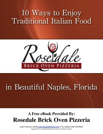 10 Ways to Enjoy Traditional Italian Food in Naples, Florida